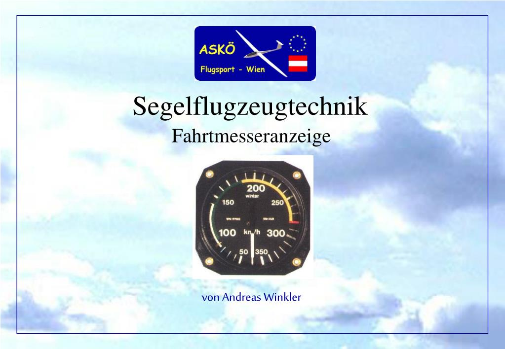 Segelflugzeugtechnik