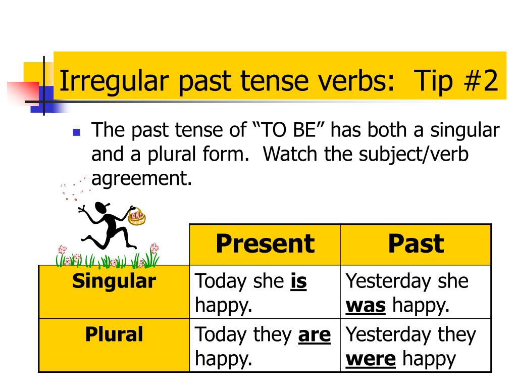 Irregular past tense verbs:  Tip #2