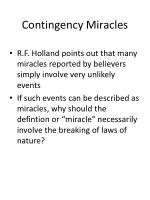 contingency miracles