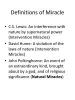 definitions of miracle