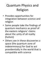 quantum physics and religion