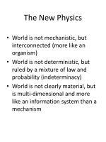 the new physics