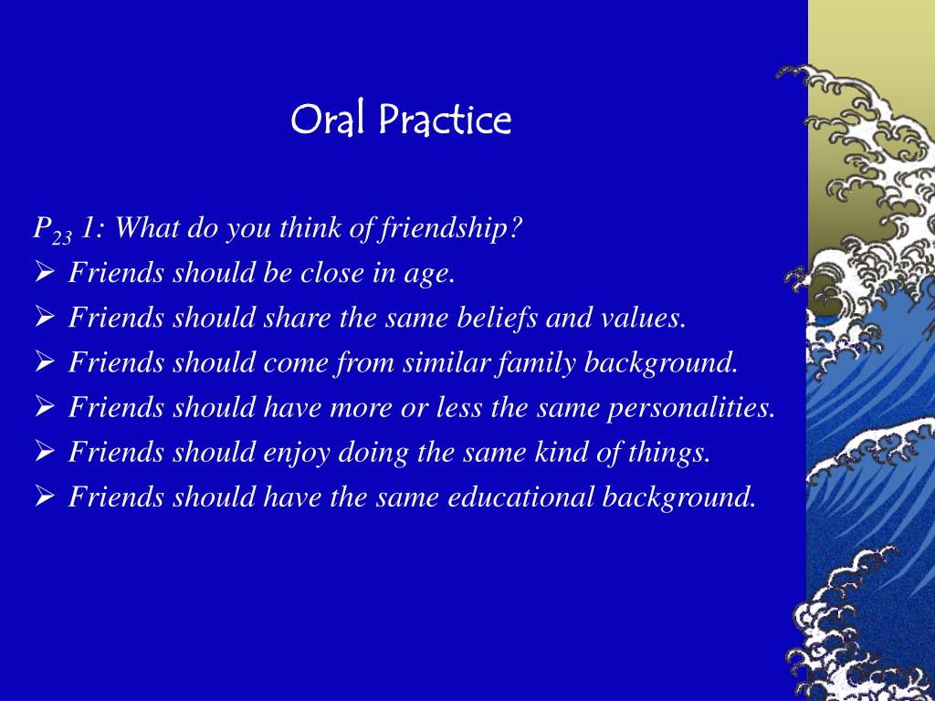 Oral Practice