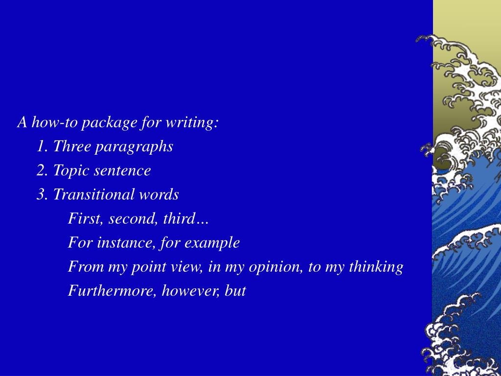 A how-to package for writing: