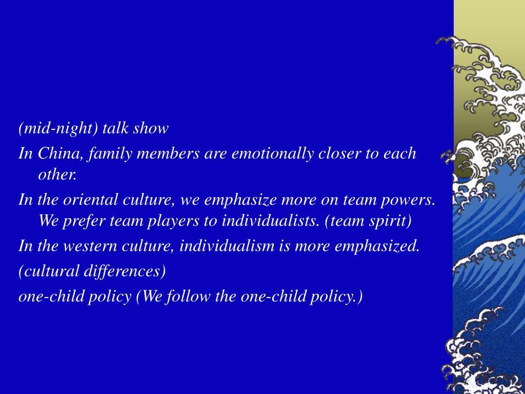 (mid-night) talk show