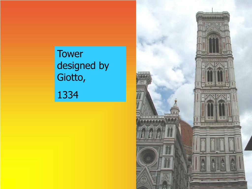 Tower designed by Giotto,