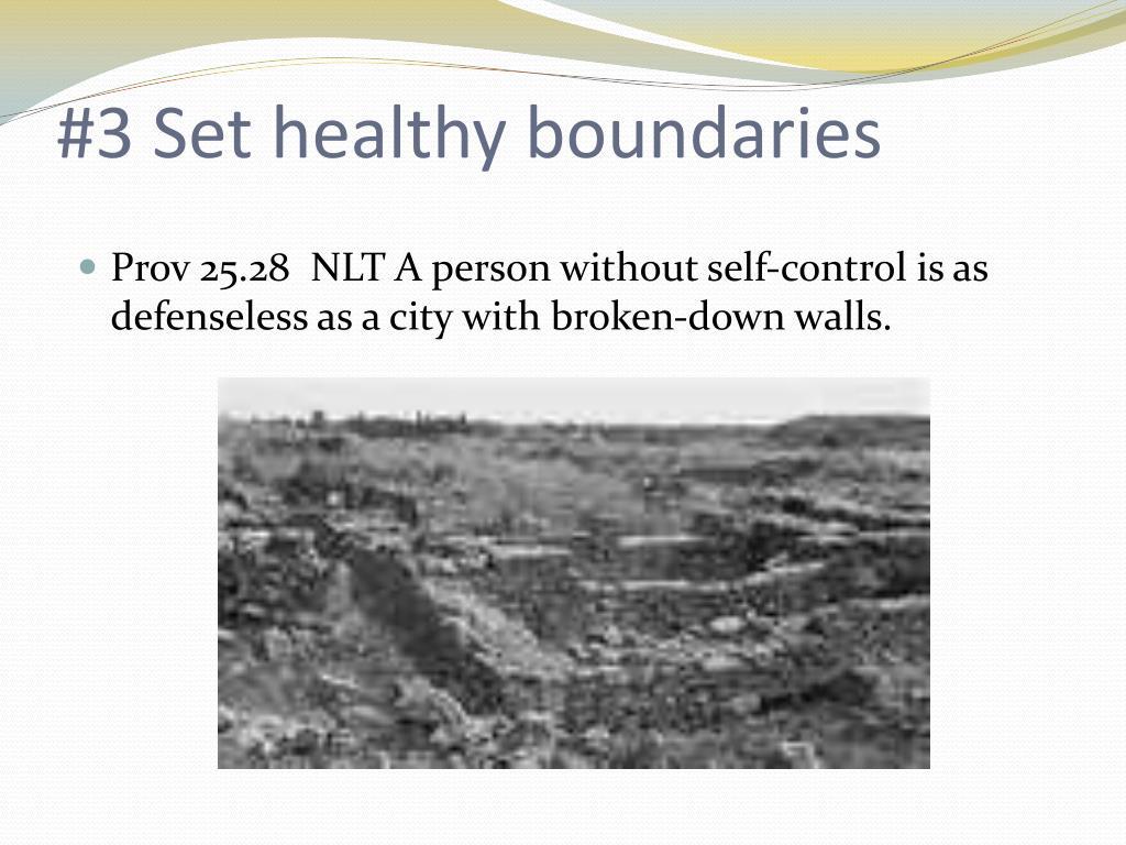 #3 Set healthy boundaries