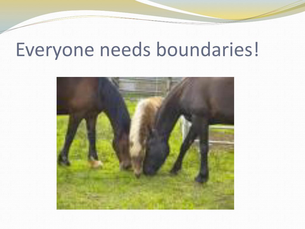 Everyone needs boundaries!
