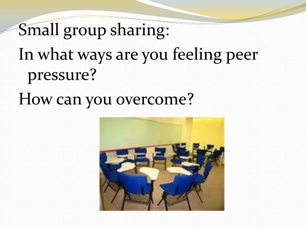 Small group sharing: