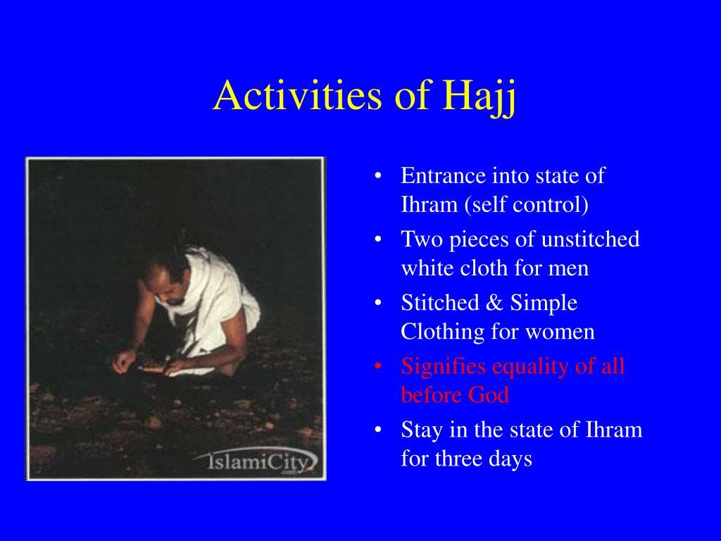 Activities of Hajj