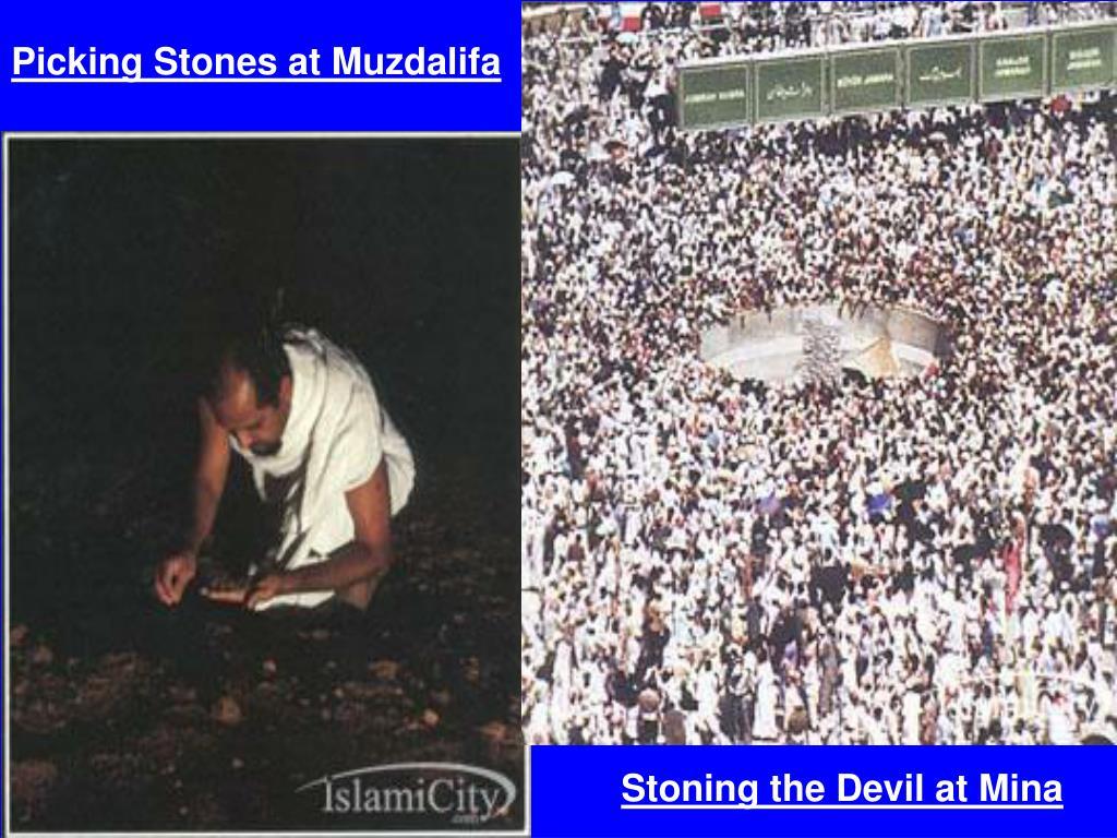 Picking Stones at Muzdalifa