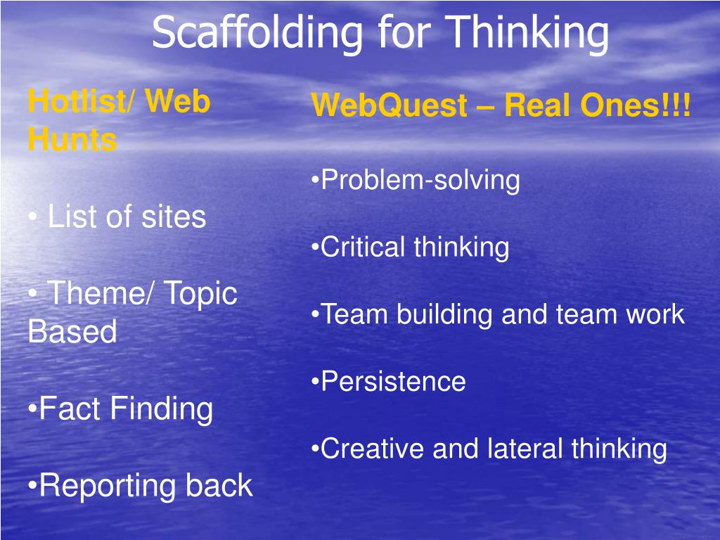 Scaffolding for Thinking
