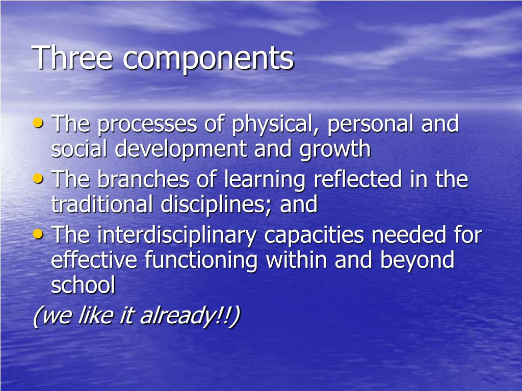 Three components