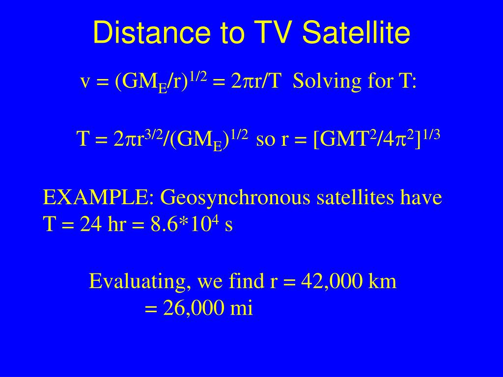 Distance to TV Satellite