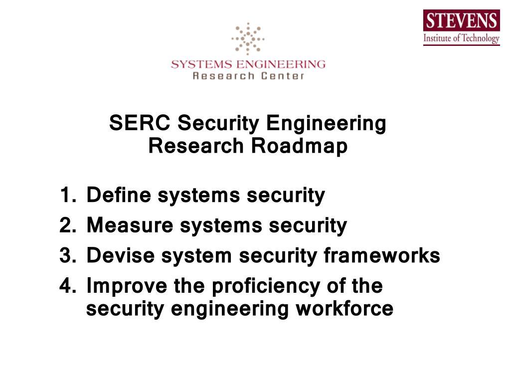 SERC Security Engineering