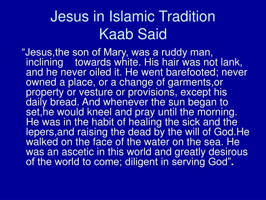 Jesus in Islamic Tradition