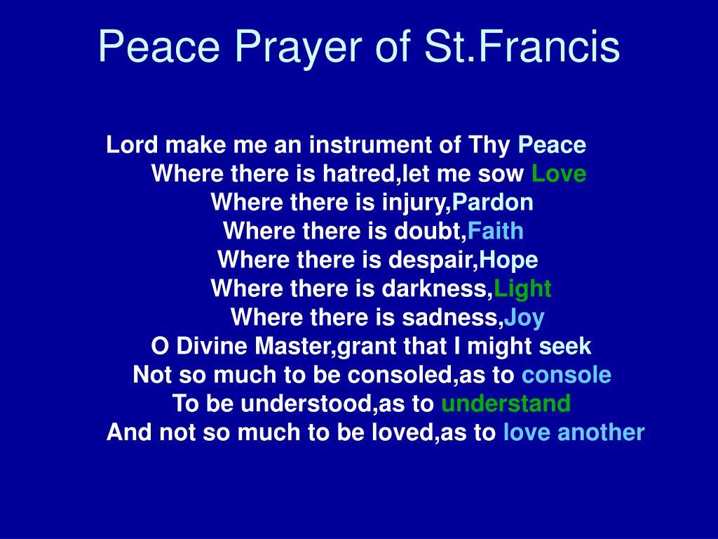 Peace Prayer of St.Francis