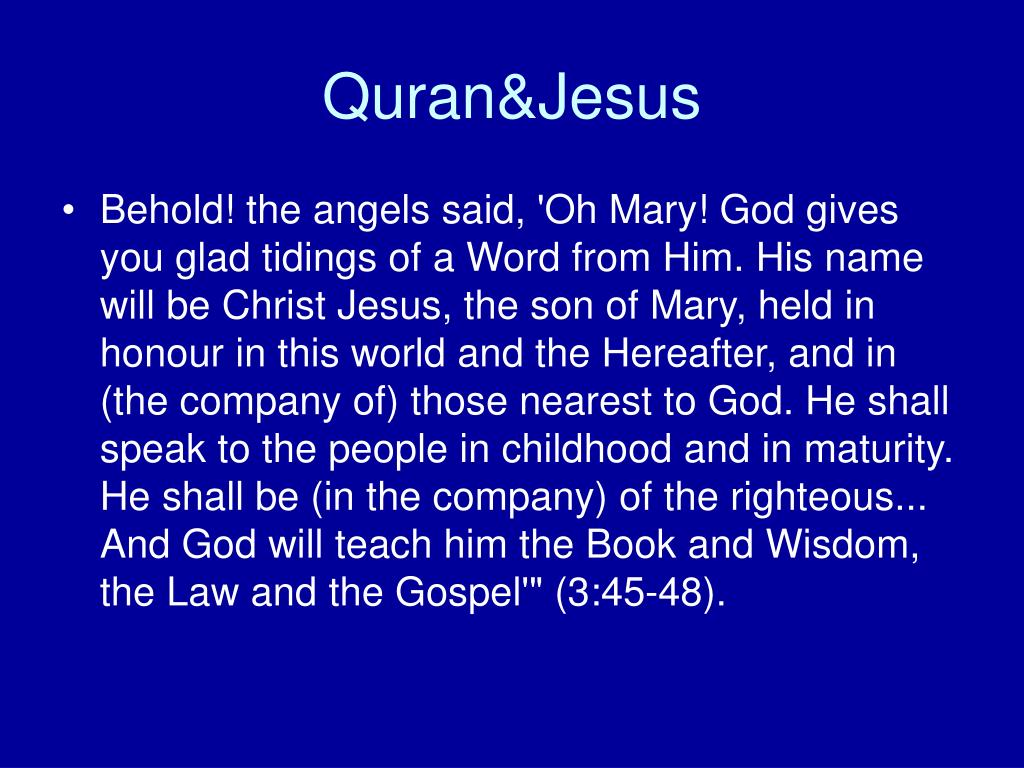 Quran&Jesus