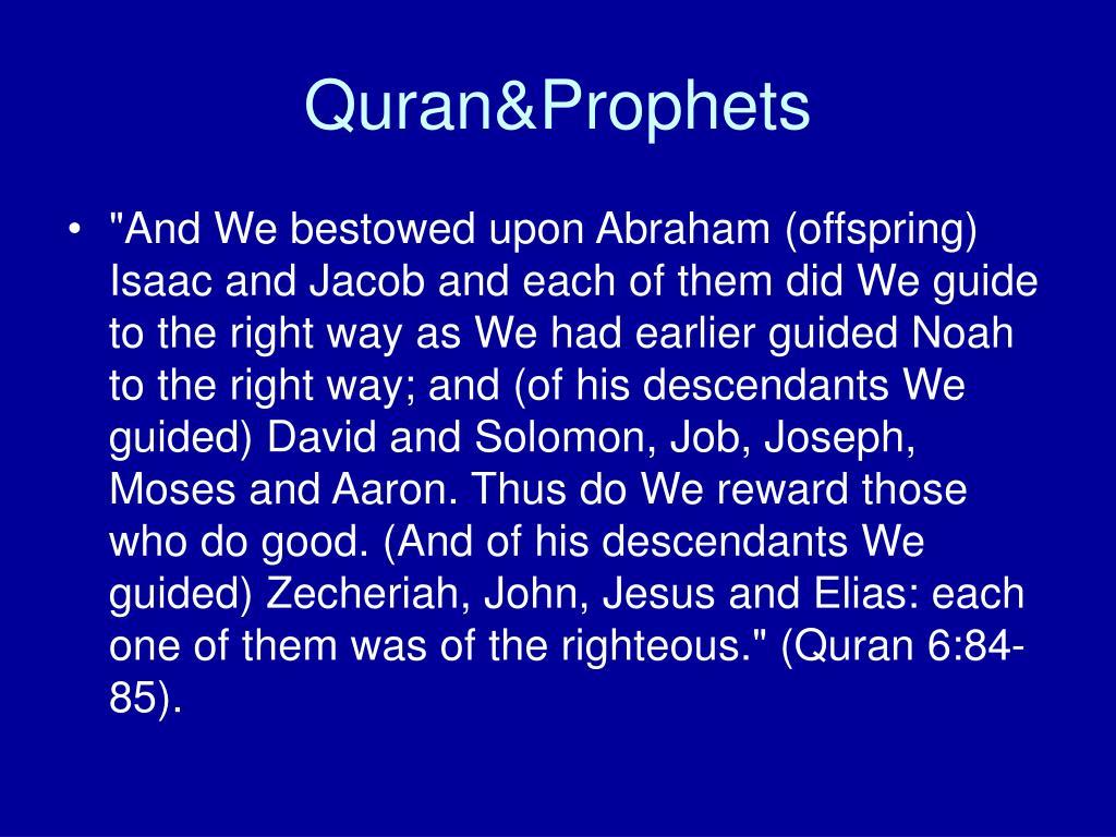 Quran&Prophets