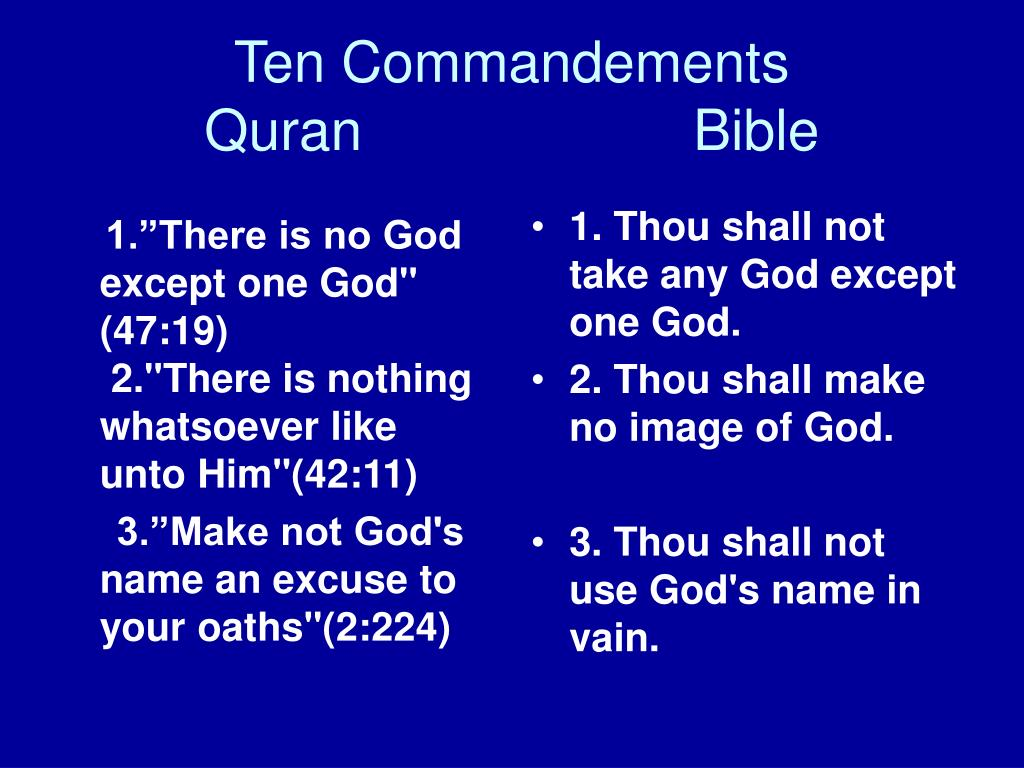 """1.""""There is no God except one God"""" (47:19)"""