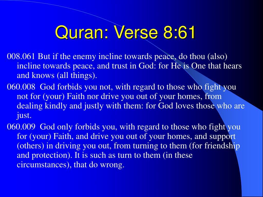 Quran: Verse 8:61
