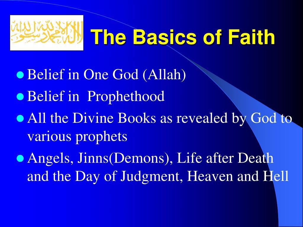 The Basics of Faith