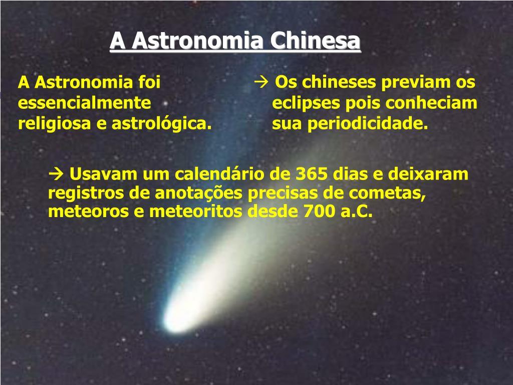 A Astronomia Chinesa