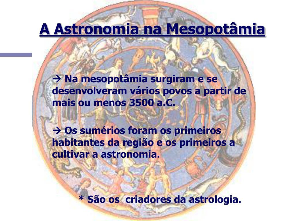 A Astronomia na Mesopotâmia