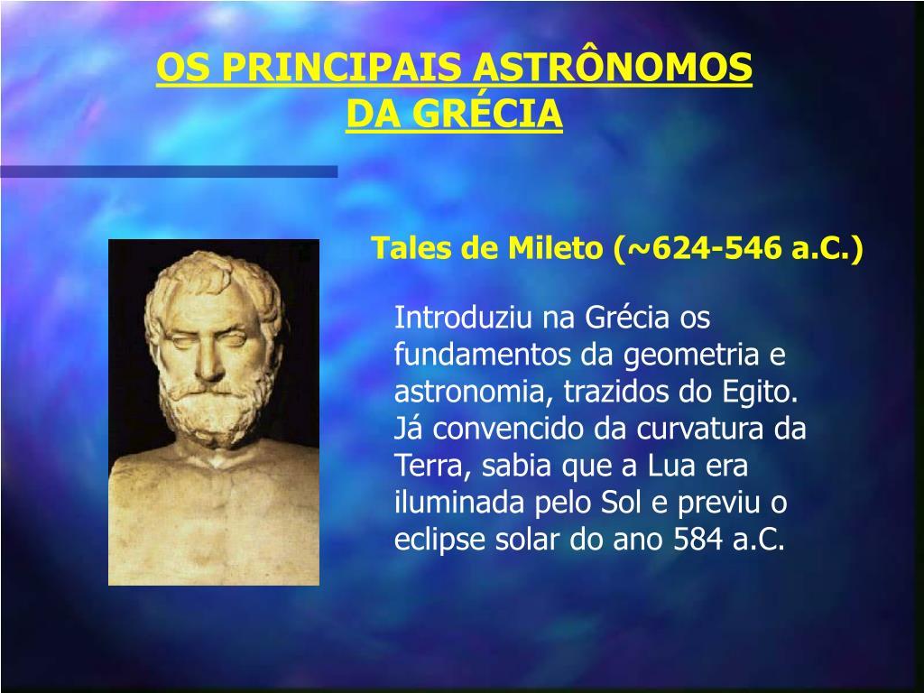 OS PRINCIPAIS ASTRÔNOMOS