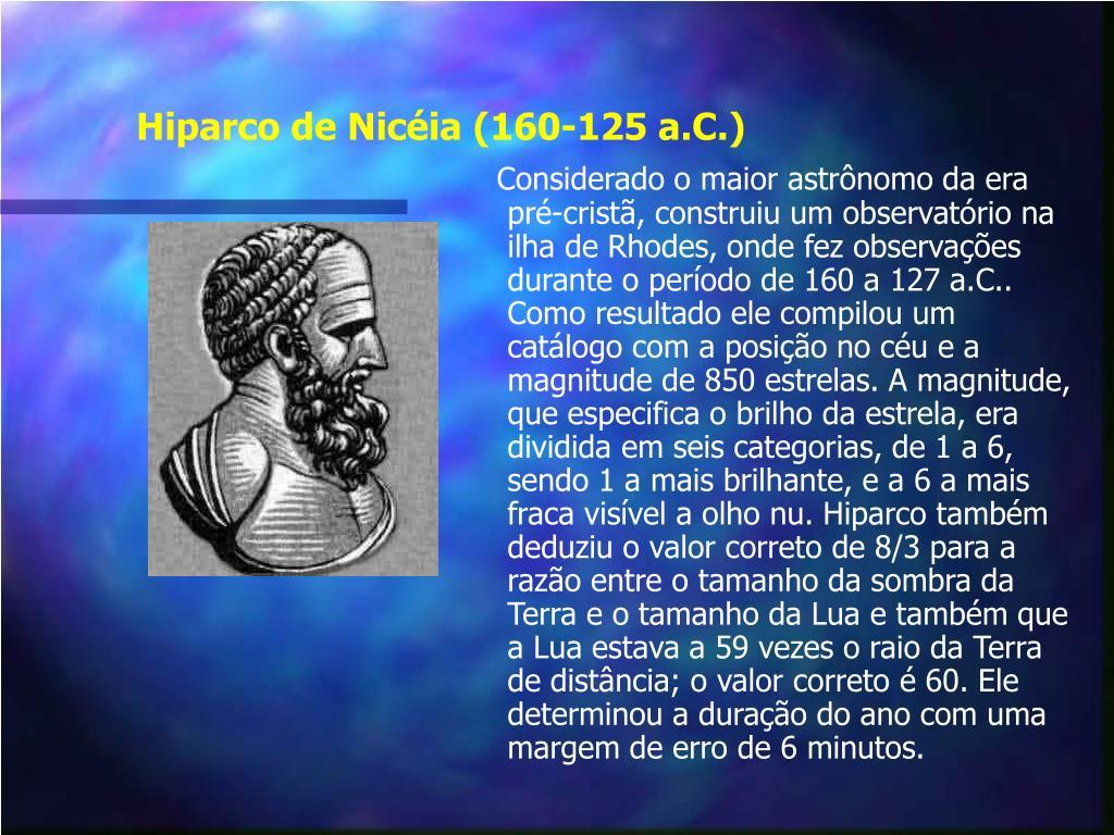 Hiparco de Nicéia (160-125 a.C.)