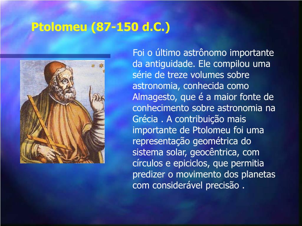 Ptolomeu (87-150 d.C.)
