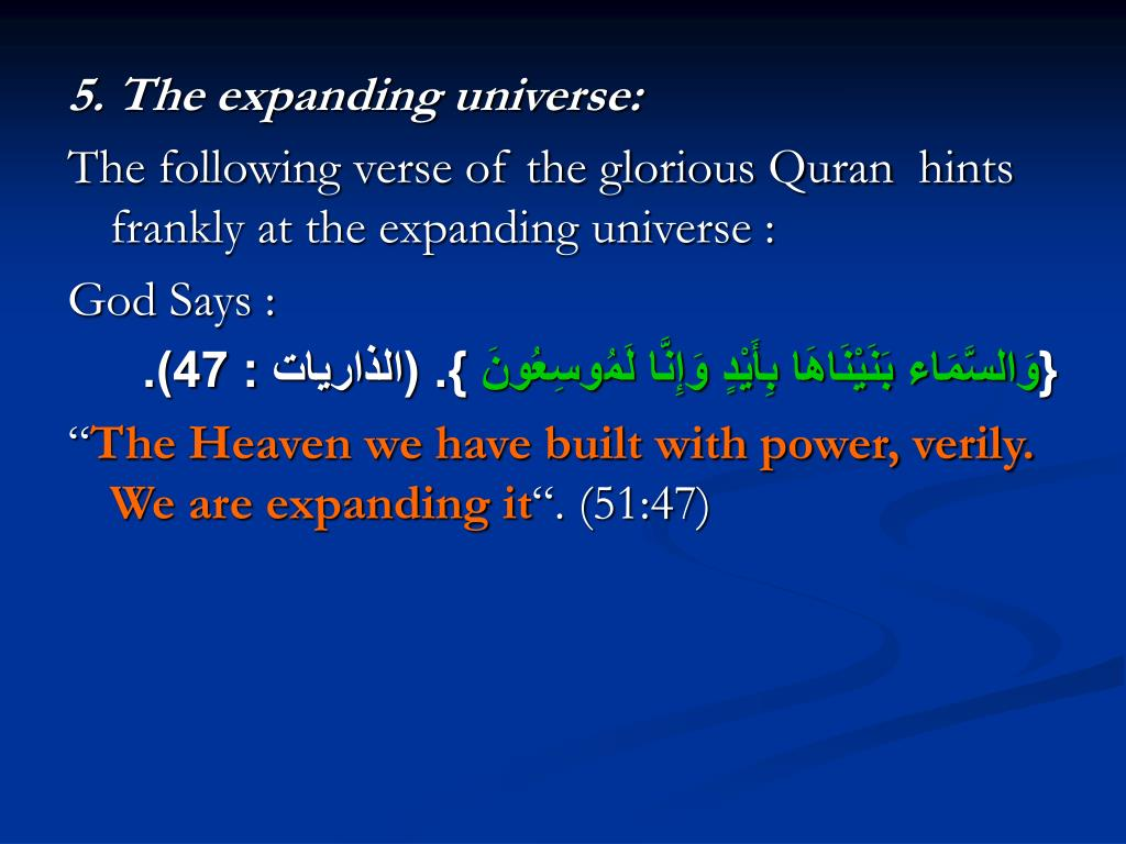 5. The expanding universe: