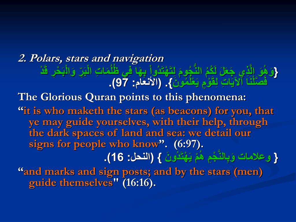 2. Polars, stars and navigation