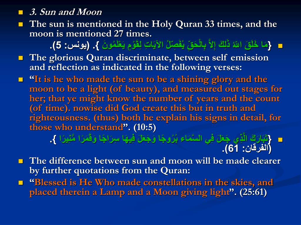 3. Sun and Moon