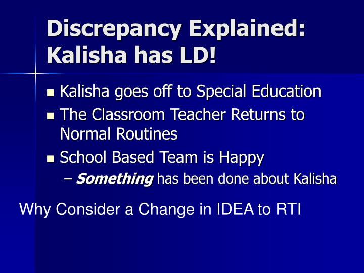 Discrepancy Explained: