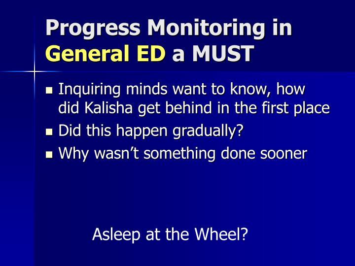 Progress Monitoring in