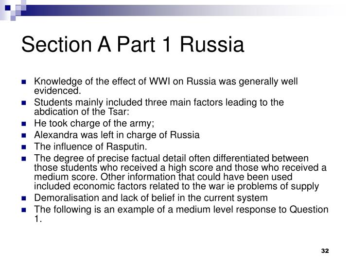 Section A Part 1 Russia