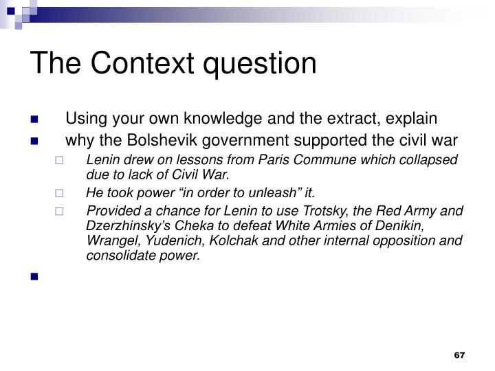 The Context question