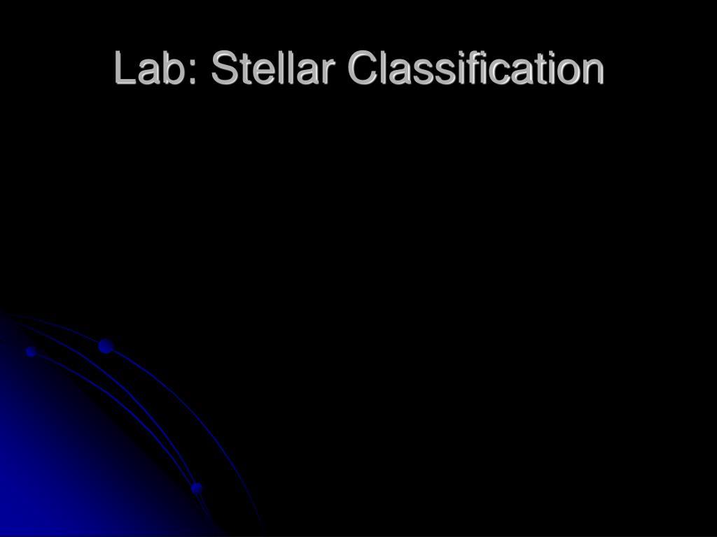 Lab: Stellar Classification