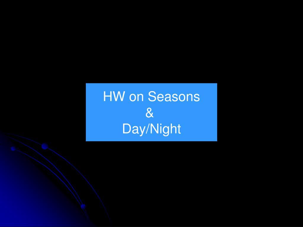 HW on Seasons