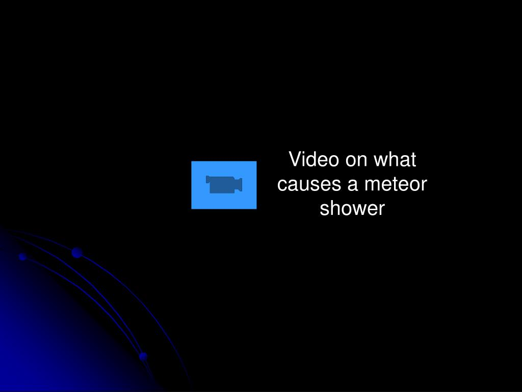Video on what causes a meteor shower
