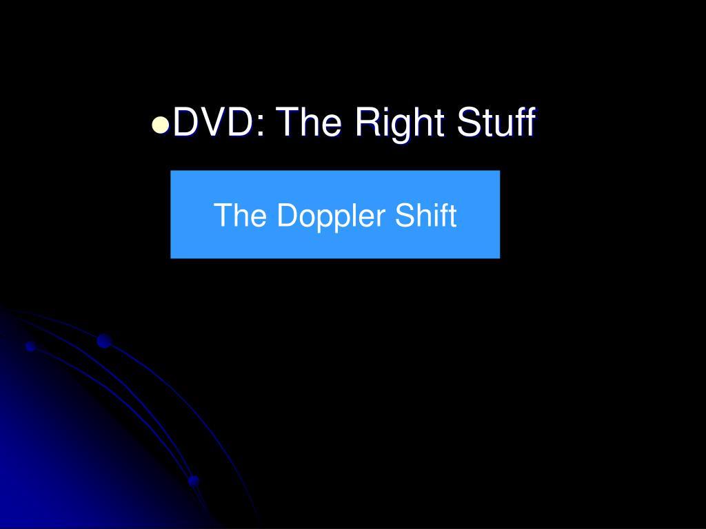 DVD: The Right Stuff