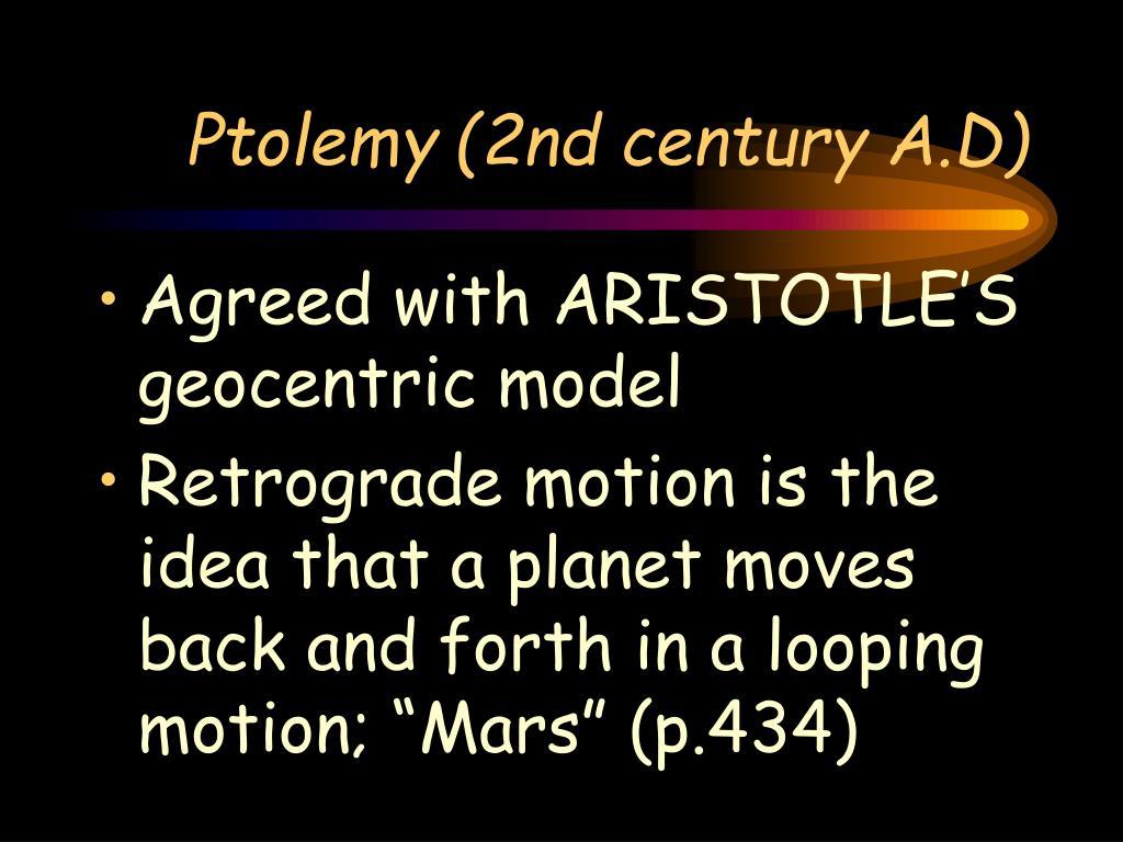Ptolemy (2nd century A.D)