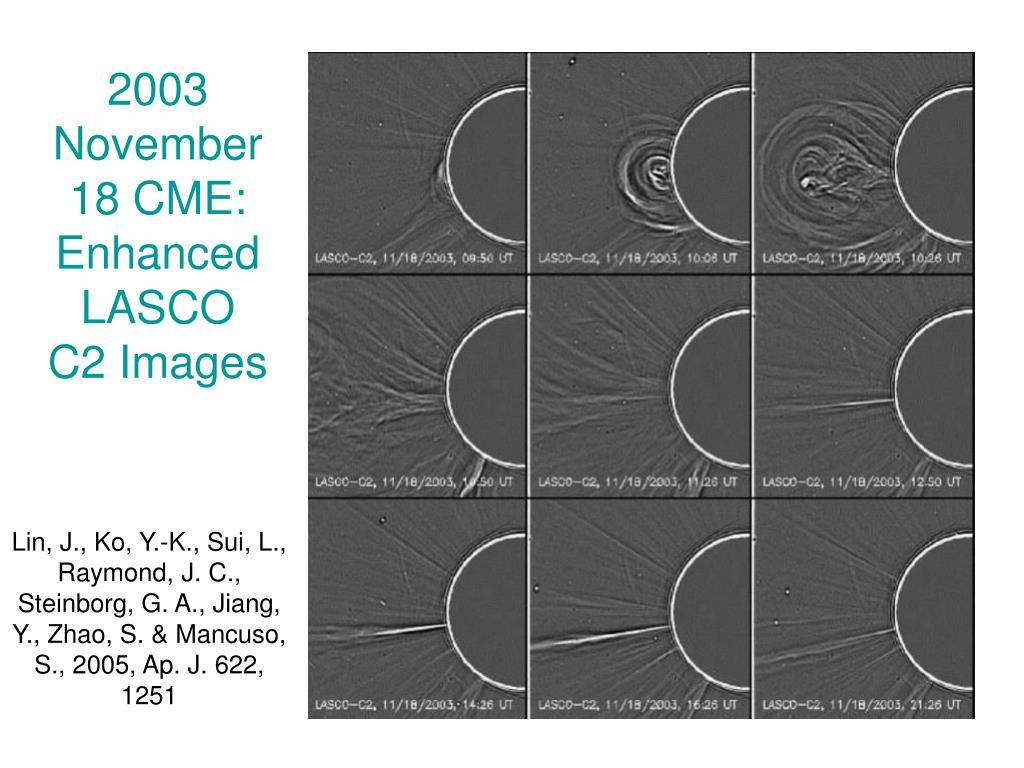 2003 November 18 CME: Enhanced LASCO