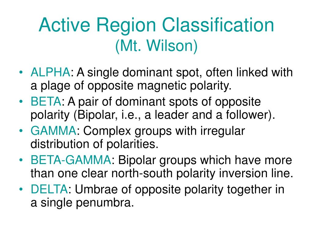 Active Region Classification