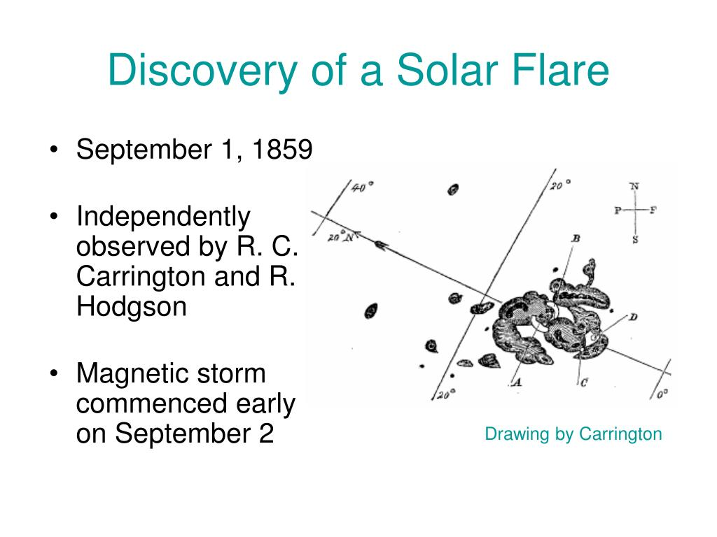 Discovery of a Solar Flare