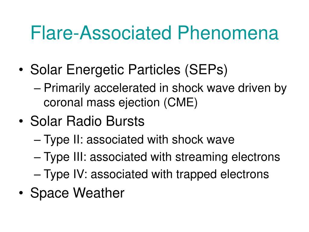Flare-Associated Phenomena