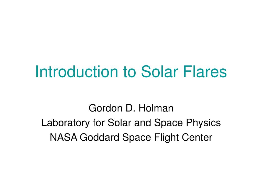 Introduction to Solar Flares