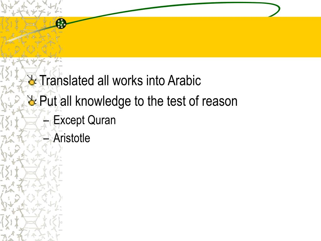 Translated all works into Arabic