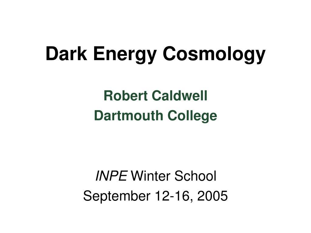 Dark Energy Cosmology